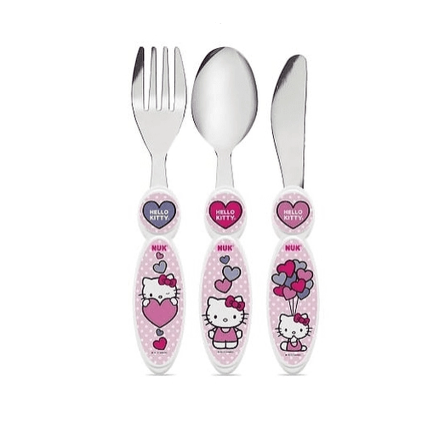 Nuk Kit Talheres de Inox - Hello Kitty