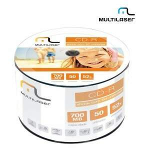 MIDIA CD-R VEL. 52X - 50 UN. SHRINK MULTILASER