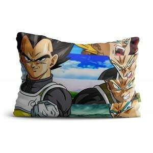 Fronha Travesseiro Goku Vegeta Super Sayajin de Dragon Ball