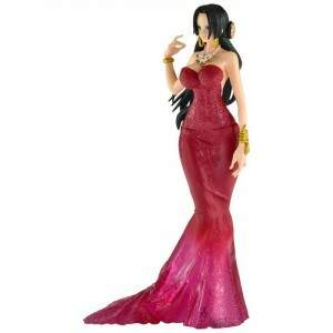 Figure One Piece Boa Hancock Wedding Noiva Rosa