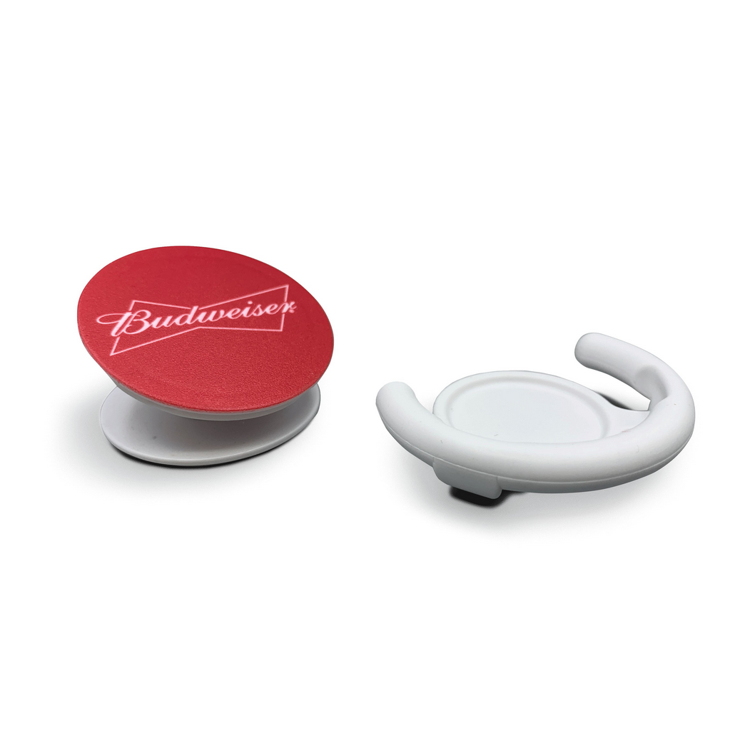 Pop Socket Celular Budweiser Branco