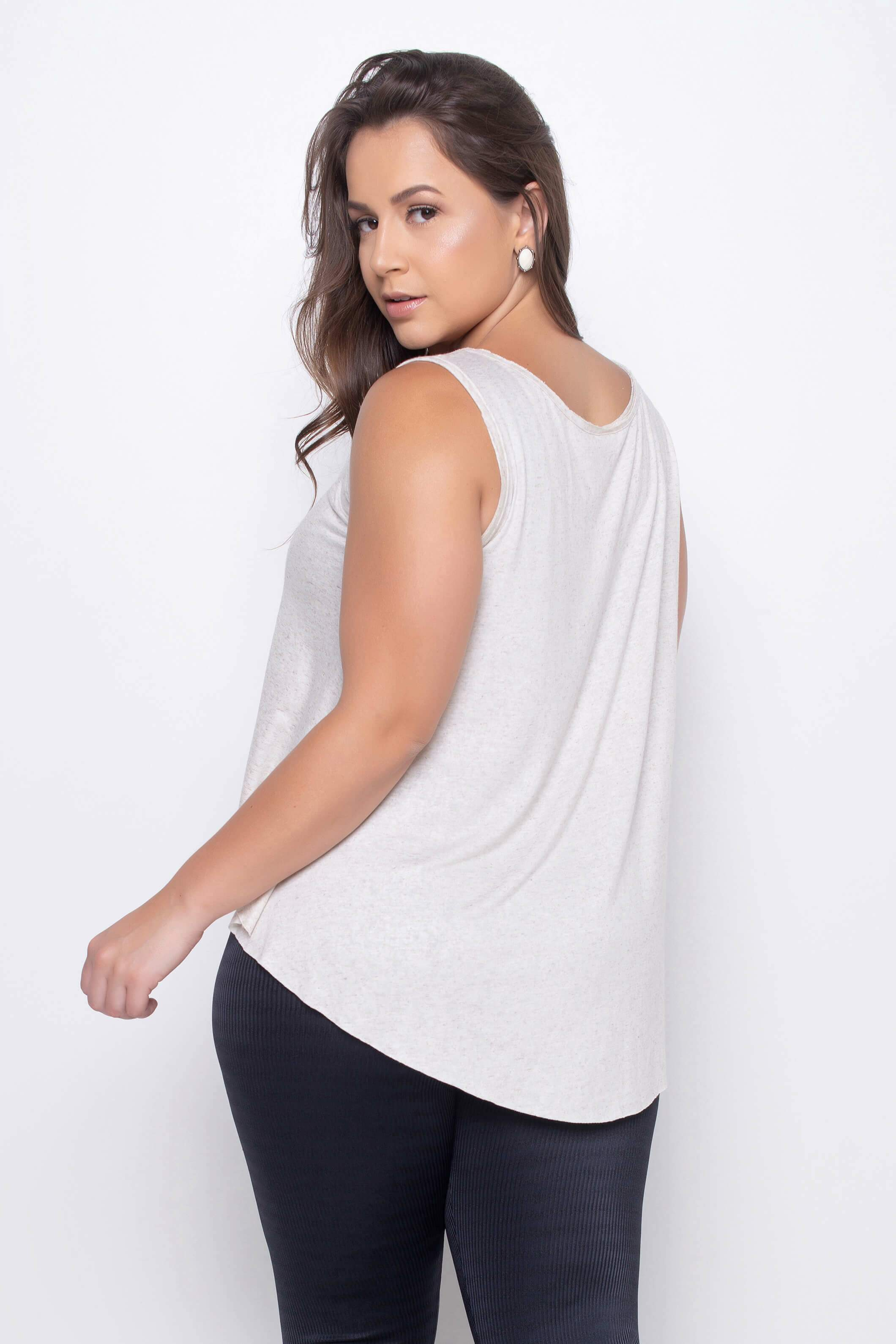 Cropped Linho Mullet Off White
