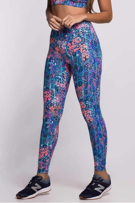 Calça Legging Fitness Viva Light Abstrat