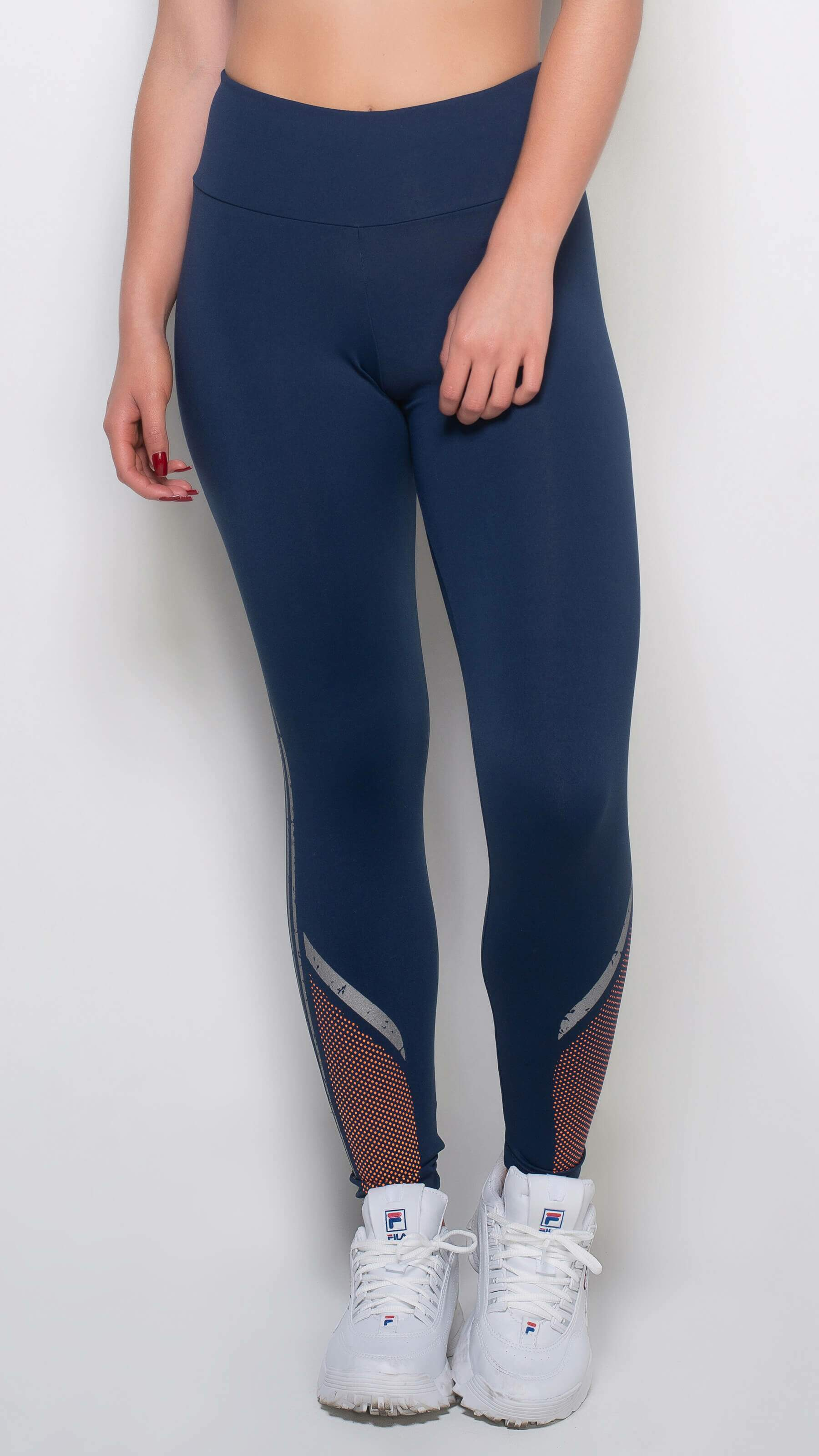 Calça Legging Fitness Comfort Evolution Azul