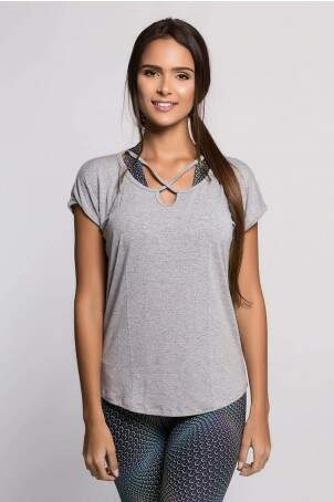 Blusa Cruzada Visco Air Mescla