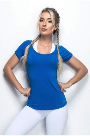 Blusa Básica Light New Azul Bic