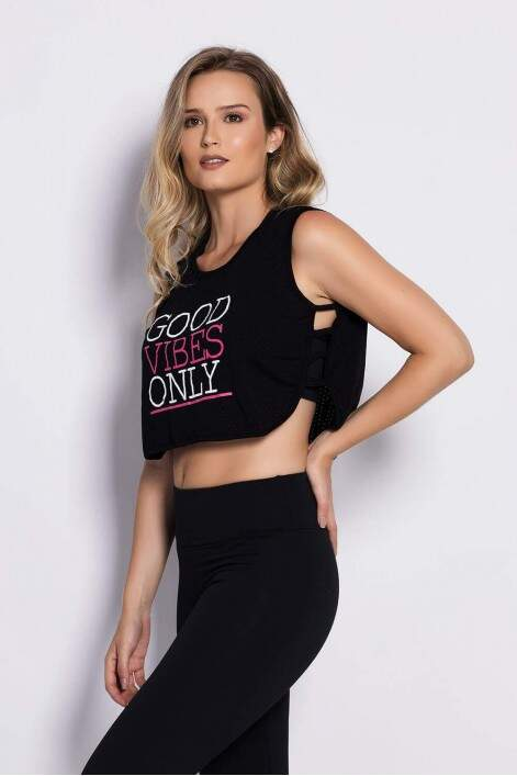 Cropped Visco Air Preto