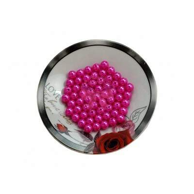 Pérola Inteira Com Furo Abs 8mm 25g | Pink