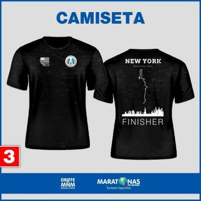 Camiseta Maratonas no Mundo - Modelo NY Finisher