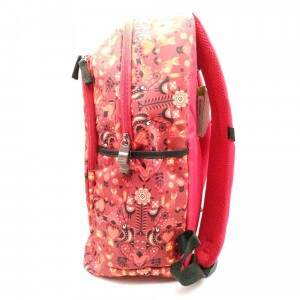 Mochila Feminina Paul Frank Magic Folk Laranja Sestini 07570