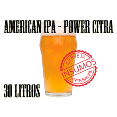 Receita American IPA Power Citra 30 litros (Kit IPA)