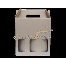 Caixa para cerveja - 3 Garrafas | 5 unidades