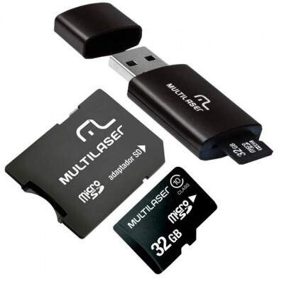 CARTAO MICRO SD 32 GB CLASSE 10 + PEN DRIVE ADAPTADOR MC113