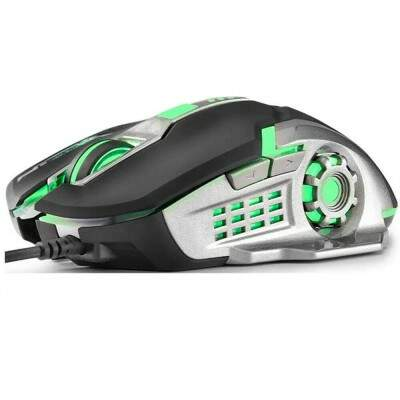 MOUSE GAMER PRETO/GRAFITE USB MO269