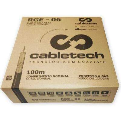 CABO COAXIAL RG 6 60% - 100M
