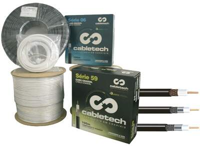 CABO COAXIAL RG 6 90% - 100M