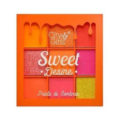 PALETA DE SOMBRA SWEET DESIRE CITY GIRLS - LARANJA