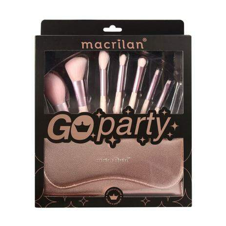 KIT 7 PINCEIS COM NECESSAIRE GO PARTY ED007 MACRILAN