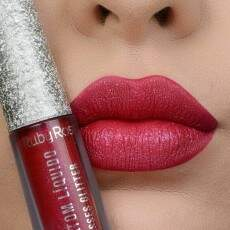 BATOM LÍQUIDO SHINE KISSES GLITTER RUBY ROSE - COR 369