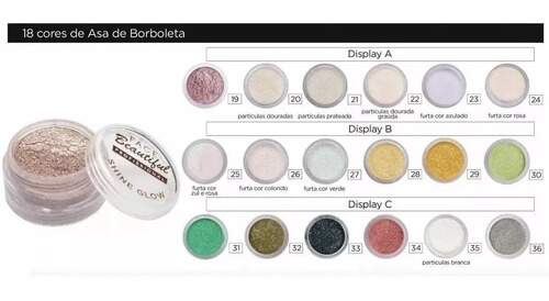 GLITTER ULTRA FINO ASA DE BORBOLETA FACE BEAUTIFUL