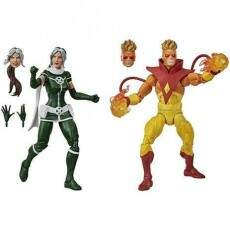 MARVEL LEGENDS X MEN ROGUE e PYRO (HASBRO) E9293