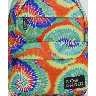 Mochila Now United Original Juvenil Grande Psicodélica Tie Dye Colorida
