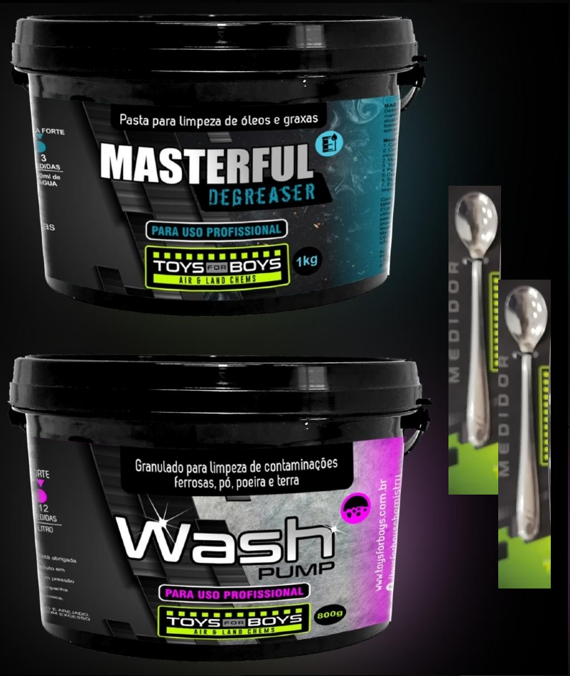 Kit Masterful 1kg + Wash Pump 800g Toys For Boys
