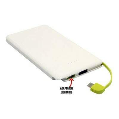 POWER BANK SUMEXR SLIM 10.000 MAH COM CABO FIXO SX-951