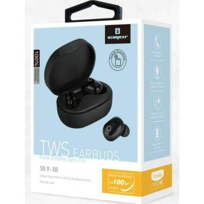 FONE SEM FIO WIRELESS TWS ESTÉREO EARBUDS TOUCH LED SLY-18