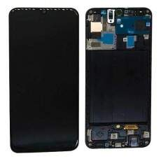 FRONTAL TOUCH DISPLAY LCD SAMSUNG A50 A505 OLED COM ARO