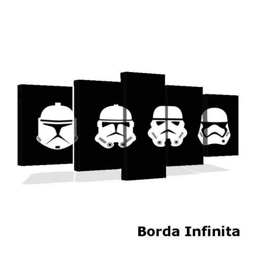 Quadro Decorativo 5 telas Tecido Canvas Filmes e series star wars 4
