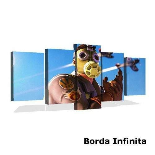 Quadro Decorativo 5 telas Tecido Canvas Games Fortnite 20